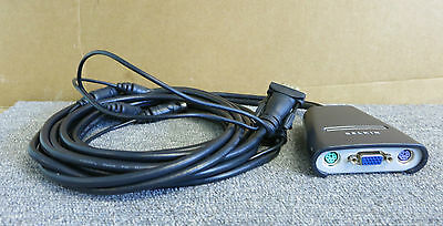 Belkin 2-Port Ps2 Vga Kvm Switch With Built-In Cabling F1Dk102P