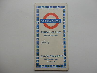 london underground map diagram of lines 1968