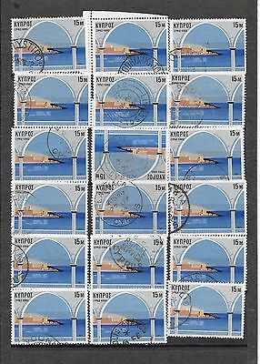 Cyprus Used 1971 Tourism 15 m Postmarks Collection Rural + +  Mix Collection ..