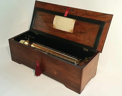 Antique Large 10 Air Lever Wind Music Box C. 1855 (Watch Video)