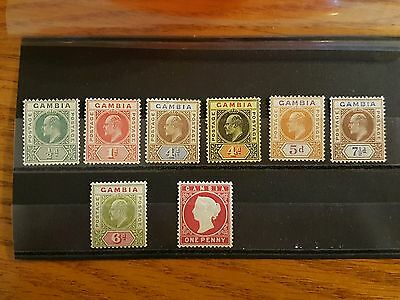 GAMBIA King Edward VII 1903 - 1910 Stamps / Mint.
