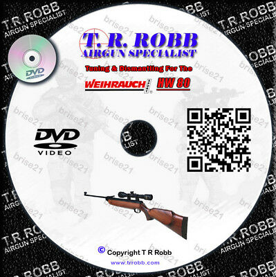 WEIHRAUCH HW 80 Air Rifle, AirGun Tuning & Dismantle DVD Video by T R Robb