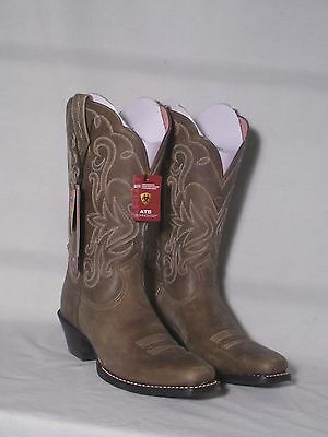NIB Ariat Legend Brown Bomber Color Leather Western Boots Women's Size 5.5