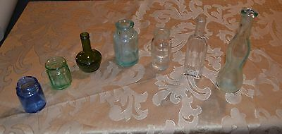 Collection of Vintage/Antique Bottles - Various Types, Sizes, Colors