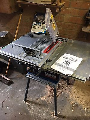 """Clarke table saw 10"""" with spare blade"""