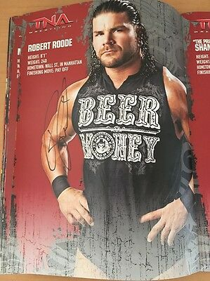 Robert Roode Signed 13 In X 9.5 In Colour Photo