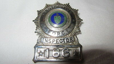 RARE Vintage Protective Force Badge Inspector Los Alamos New Mexico 166 Obsolete