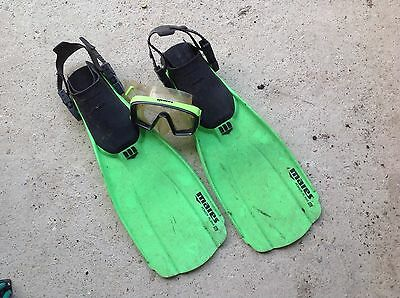 Mares power plana sl fins small & free mask