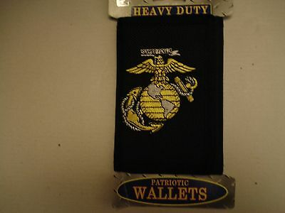 US Marine Wallet Heavy Duty Marine Logo. Durable Nylon.