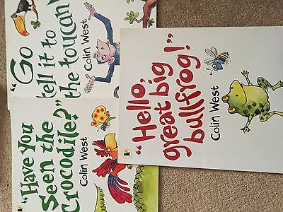Set of 3 Paperback Books by Colin West Bullfrog-Crocodile-Toucan