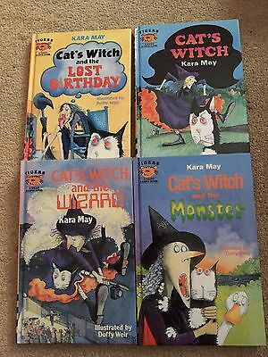 Set of 4  Hardback Books by Kara May - Cat's Witch and the Wizard......