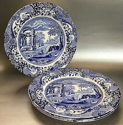 1 Of 4 Spode Blue Room Collection Italian England 10 Inch Dinner Plates