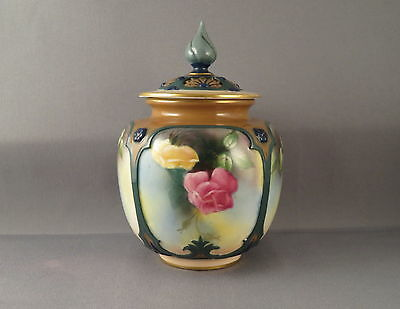 Royal Worcester Pot Pourri (H162) with hand painted Hadley Roses 1909