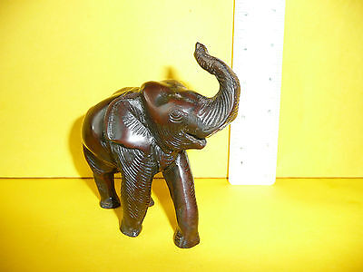 Elephant Ornament Dark Solid Cast Resin