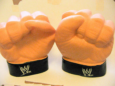 The Rock wwe wwf wrestling fists gloves make sounds rare C540