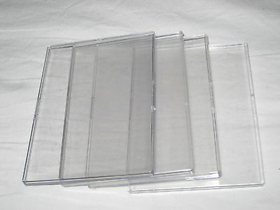 Trading Card Presentation Cases x4 - Custom-Made Clear Plastic Card Protectors
