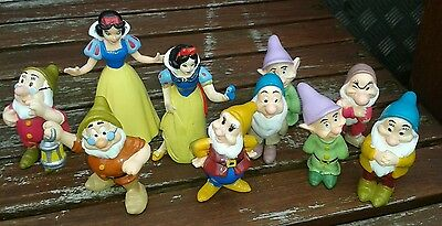 Snow White and the Seven Dwarfs Vintage Disney figures 1993