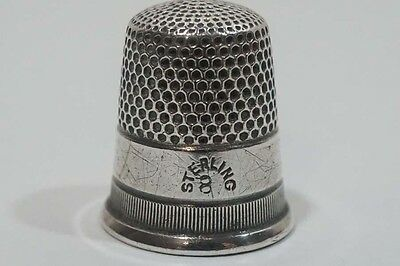 C753 Vintage Sterling Thmble # 8 Unsigned Not Perfectly round 3.6 gr