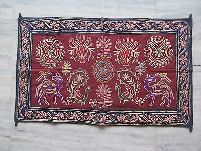 Vintage Indian Tribal Handmade Wall Decor Ethnic Patch Embroidery Tapestry #03