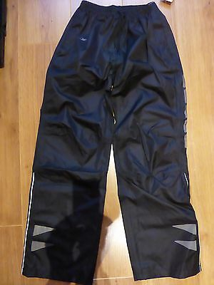 black waterproof cycling/walking trousers age 9-10 years