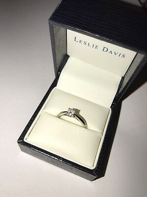 9ct white gold 0.25ct diamond Solitaire  Engagement Ring  J Size