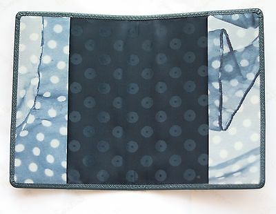 Paul Smith Passport Holder Cover Wallet Black Teal Grey Blue Leather
