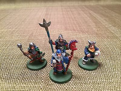 Ral Partha Models - dwarf command group - painted