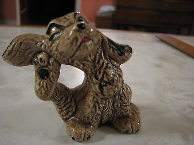 Small Dog Scratching Ear Ceramic Figurine Collectible Puppy Canine Decorative