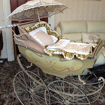 ANTIQUE. Late 19th Century Pram. FRENCH