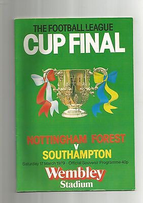 League Cup Final - Notts Forest v Southampton - 17th March 1979 @Wembley