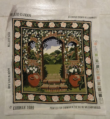 Completed Ehrman Tapestry: Walled Garden by Edwin Belchamber