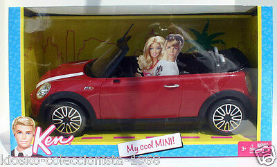 Barbie & Ken, My Cool Mini Cooper convertible (MATTEL 2011) Nuevo, descatalogado