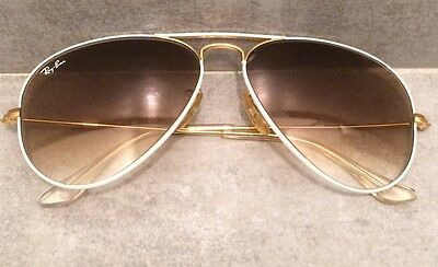 ray ban bausch lomb Vintage Or Et Blanc
