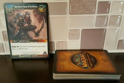 Complete Set of 25 World of Warcraft Trading Card Game WoWTCG Alliance Rogue