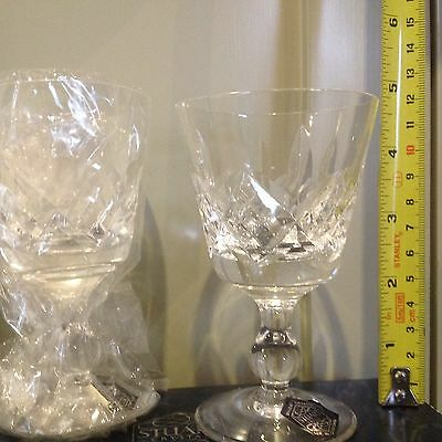 Stuart Crystal Wine Glasses - New Without Tags