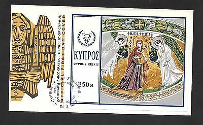 Cyprus 1969 Christmas M/S On First Day Cover
