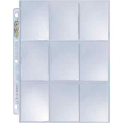 Ultra Pro /Max Protection - 25x Trading Card A4 Binder Pages (Clear 9 Pocket)