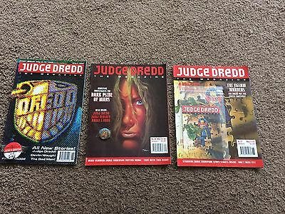 Judge Dredd  Comics Megazines Issue 1 , 27, 28 All With Free Gifts 2000AD