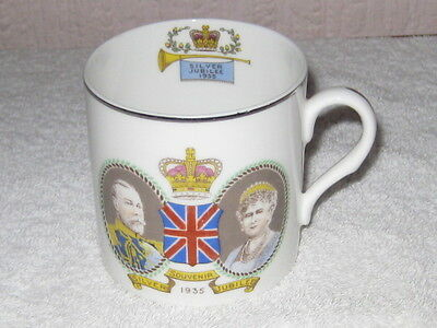 George V and Queen Mary Silver Jubilee 1935 Mug