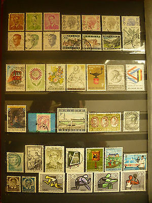 Lot de 161 timbres d'Europe oblitérés