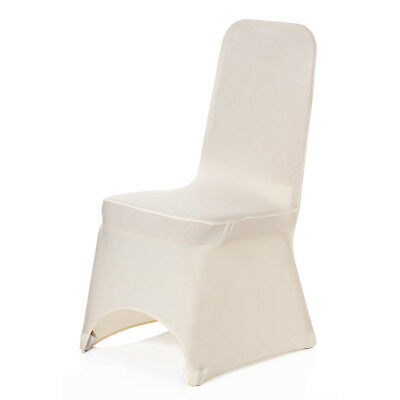 100 Ivory Chair Covers Lycra Spandex Elastane Wedding Party Banquet Decoration