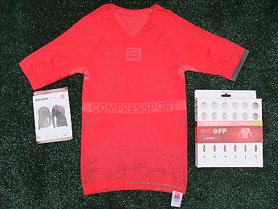Compressport On/Off Multisport 1st Layer Compression Base Shirt SS ~ Red ~ Small