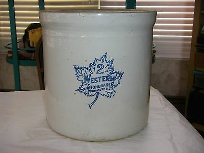 Vintage 20's Western Stoneware #2 Monmouth Two Gallon Crock/Pickle Jar!