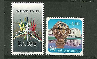 Timbres neufs** - NATIONS UNIES  Genève 152-53