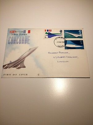First Day Cover Concorde 1st Flight 1969 With Something Inside. Aviation Stamps