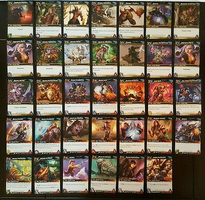 Lot Set of 34 World of Warcraft Trading Card Game WoWTCG Alliance Ally Cards