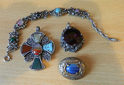 Miracle3 pendants, brooch plus another