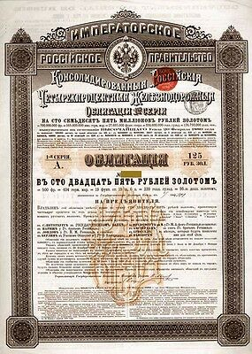 Emprunt Russe - Imperial Govt of Russia, Russian Consol. 4%