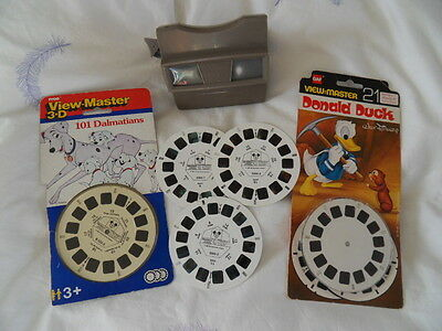 Viewmaster Disney Bambi, 101 Dalmations, D Duck each has 21 3D pics 1970s/80s