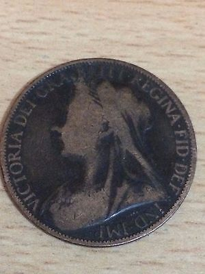 1898 One penny coin